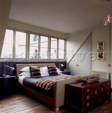 dormer bedroom jb134 17b stylish bedroom with double bed set within d narratives photo agency