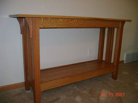 Sofa Table Plans by Craftsman Sofa Table By Jerif Lumberjocks