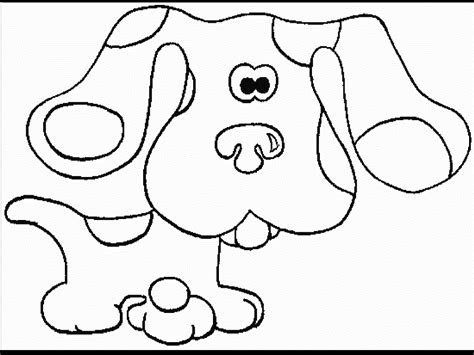coloring page of blue coloring pages blue s clues coloring pages