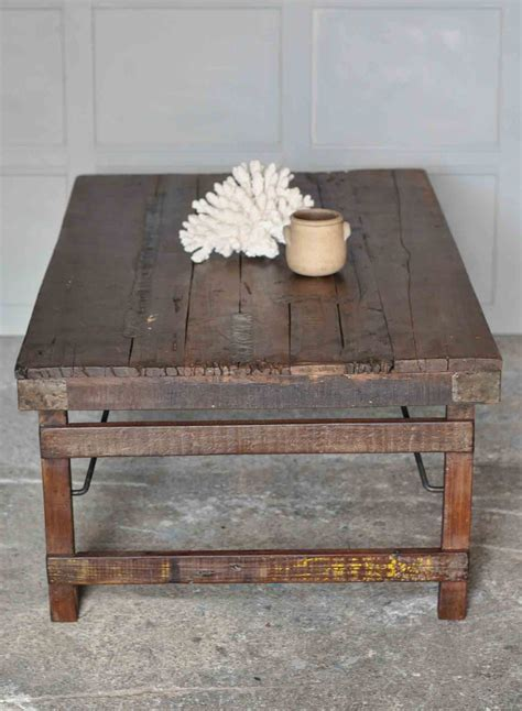 rustic metal coffee table rustic vintage coffee table with metal tin patchwork