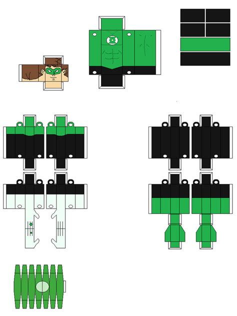 Green Lantern Papercraft - green lantern paper fig by natduv on deviantart