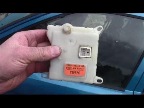how to remove install heater blend door actuator youtube