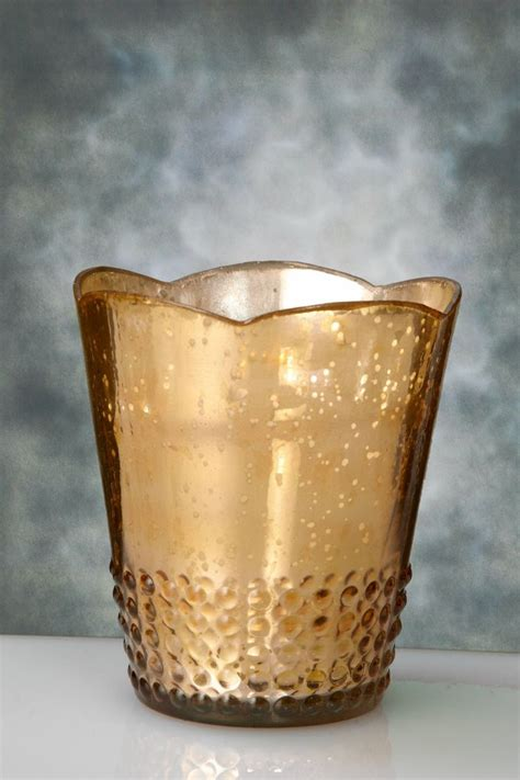 gold mercury glass l 1000 ideas about glass votive holders on pinterest