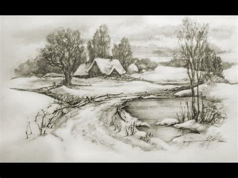 how to draw landscapes speed drawing pencil landscape cool drawings tanked studio