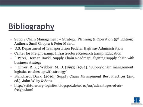 Mba Project In Logistics Management by Supply Chain Management Transportation Mba Project