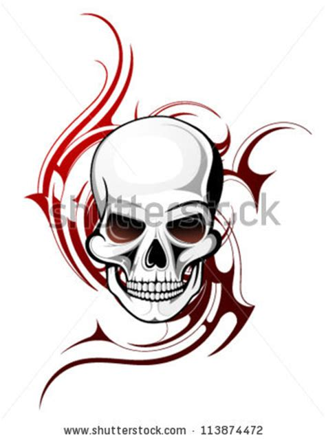 skull tattoo stock photos images amp pictures shutterstock