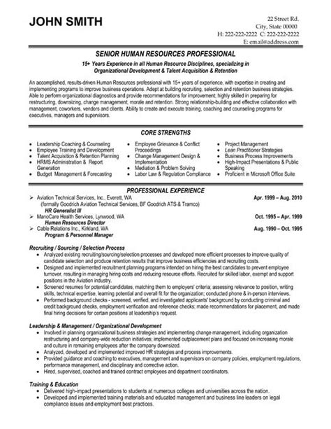 best hr resume sles best solutions of sle human resources resumes in form