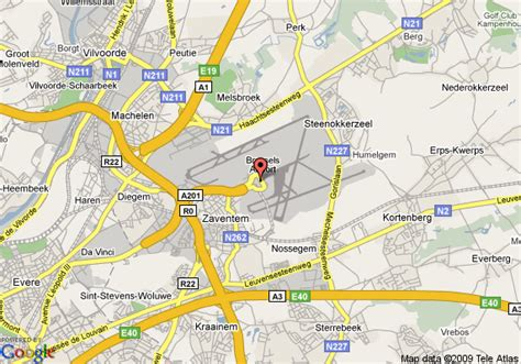map of belgium airports brussels airport