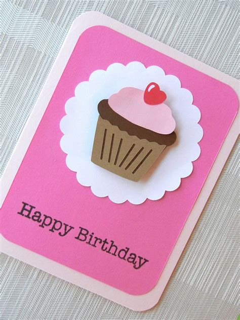 Simple Handmade Birthday Cards - easy diy birthday cards ideas and designs
