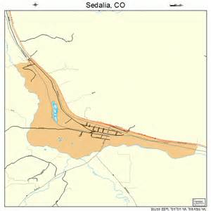 sedalia colorado map 0868875