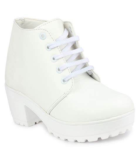 do bhai white ankle length boots price in india