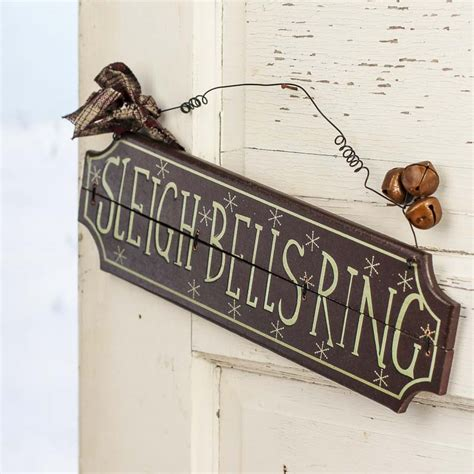 vintage like wood quot sleigh bells ring quot sign signs