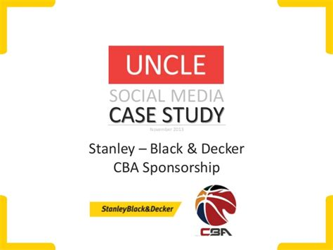 Stanley Mba Sponsorship by Study Stanley Black Decker And The Cba