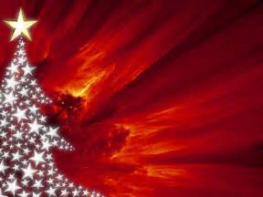 Red christmas tree power point backgrounds red christmas tree