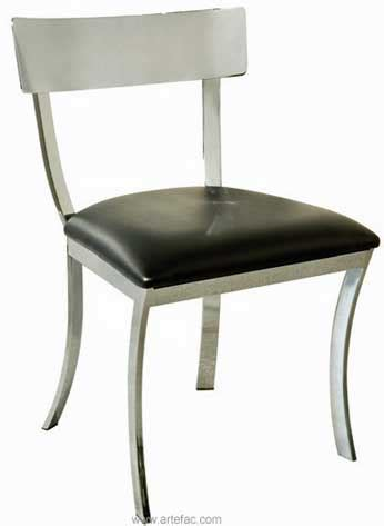 sr 46336 chrome finished steel construction dining chair