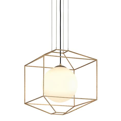 wire frame prism pendant square shades of light