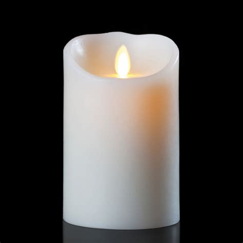 luminara candele luminara wax candle ivory 3 5 x 7 with timer remote