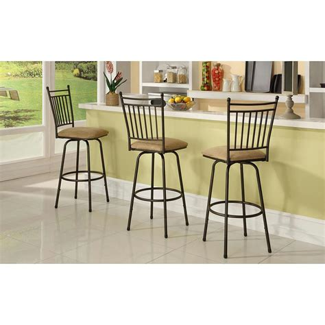 linon home decor bar stools linon home decor adjustable height brown swivel cushioned