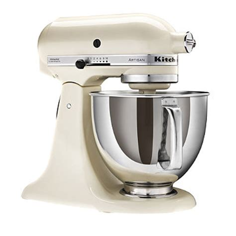 Cream KitchenAid® Artisan® Stand Mixer in food processors