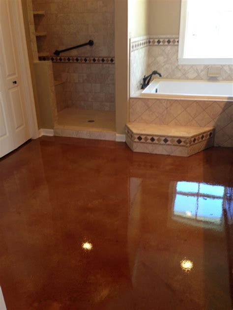 stained concrete bathroom 1000 images about kitchen ideas on pinterest