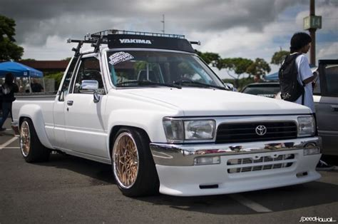 stanced trucks toyota pickup stanced 187 the garage 187 general tech