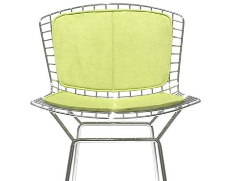 bertoia bar stool seat cushion bertoia stool with back pad seat cushion hivemodern