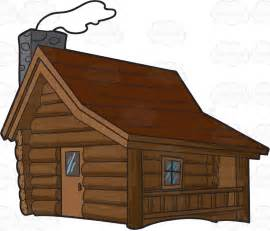 clipart a winter cabin in the woods