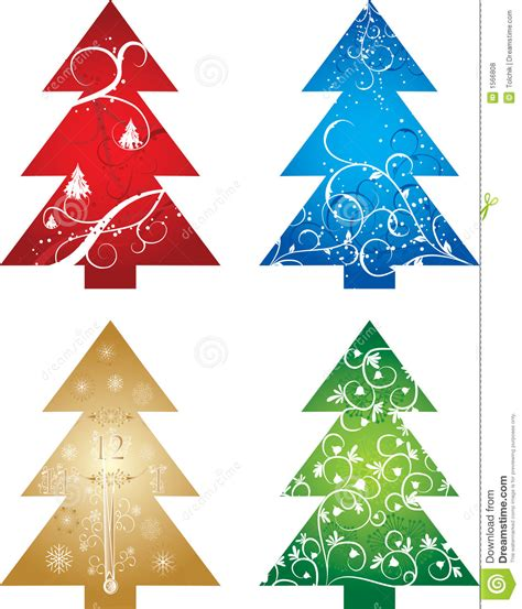 vector christmas tree tutorial christmas tree background vector stock vector image
