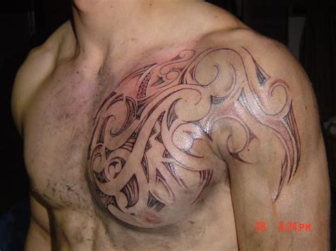 tattoo tribal chest cuban tribal chest