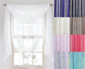 Swag Curtains Voile Scarves 3m Or 5m Lengths Net Curtains Swags
