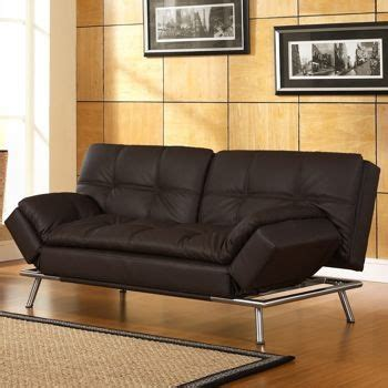 euro futon sofa sleeper belize java bonded leather euro lounger a la maison