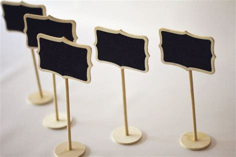 buffet name tags sale set of 5 mini chalkboard stands color