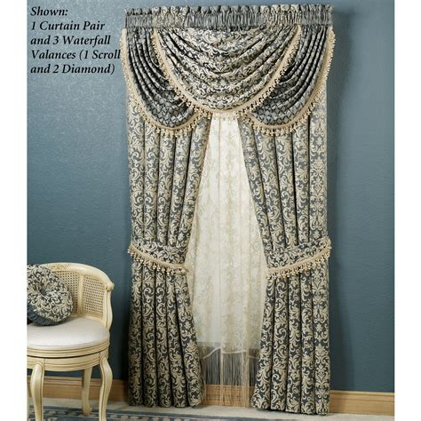 waterfall valance pattern waterfall valance pattern home interior decoration idea