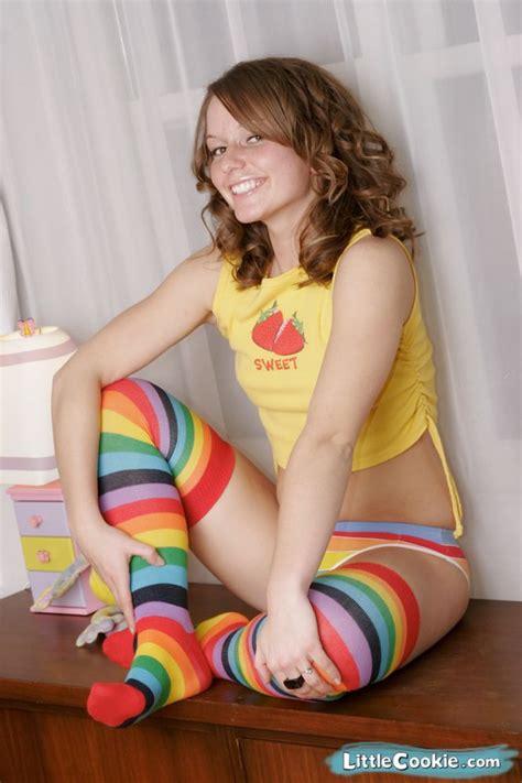 by littlecookiecom little cookie 187 rainbow thighs 187 image 1 teen models