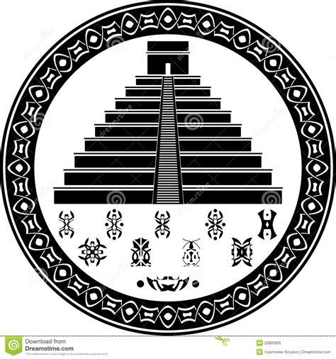tattoo temple logo s 237 mbolos mayas de la pir 225 mide y de la fantas 237 a ilustraci 243 n