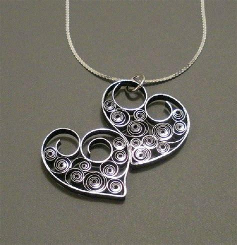 tutorial quilling gioielli ciondolo quilling a forma di cuore passion diy