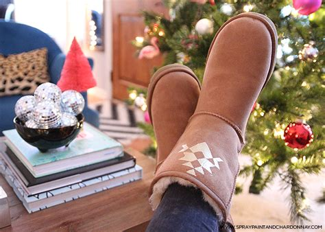 spray paint ugg boots diy personalized uggs spray paint chardonnay