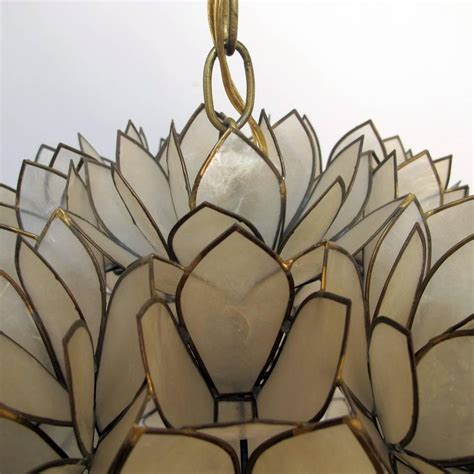large pendant light fixtures large capiz shell pendant light fixture at 1stdibs