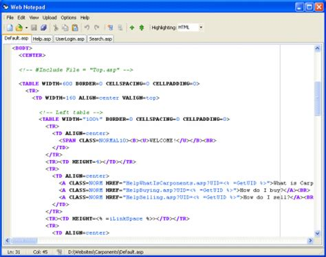 web page design tutorial notepad web notepad digicraft software