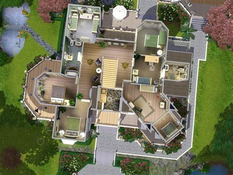 Sim House Plans My Sims 3 Wisteria Hill A Grand Estate By Ruthless Kk