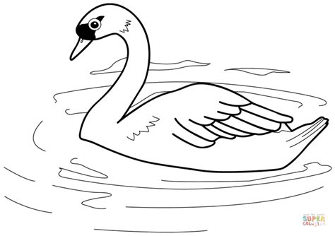 swan coloring pages swan coloring page free printable coloring pages