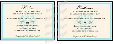 bathroom baskets for wedding guests customizable wedding reception bathroom guest basket sign in