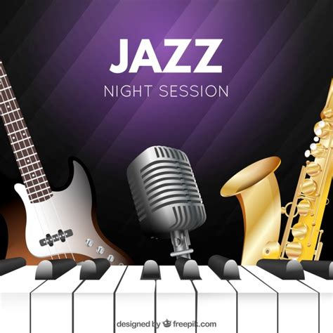 what instruments can be found in the jazz rhythm section background of jazz musical instruments vector free download