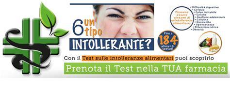 test intolleranze alimentari farmacia di molteno test intolleranze alimentari