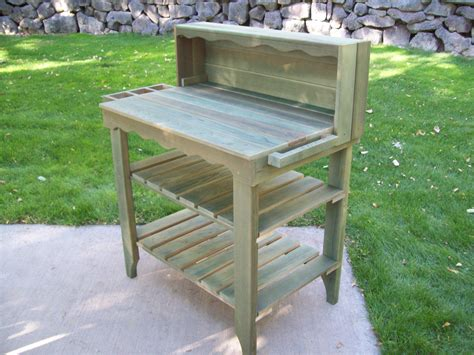 potters bench deluxe potting bench