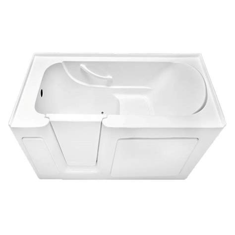 walk in bathtubs lowes shop laurel mountain colony white acrylic rectangular walk