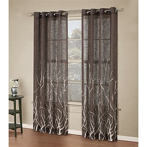branch curtains alton print grommet window curtain panel bed bath beyond