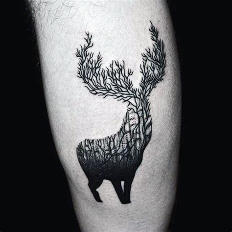 deer antler tattoo designs 90 deer tattoos for manly outdoor designs