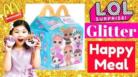 Egg Dolls Lol Anniversary Edition Glitter Serie lol glitter happy meal mcdonalds drive thru