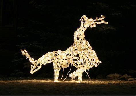 funny christmas treelights with deer time for some seasonal decorations the fal files